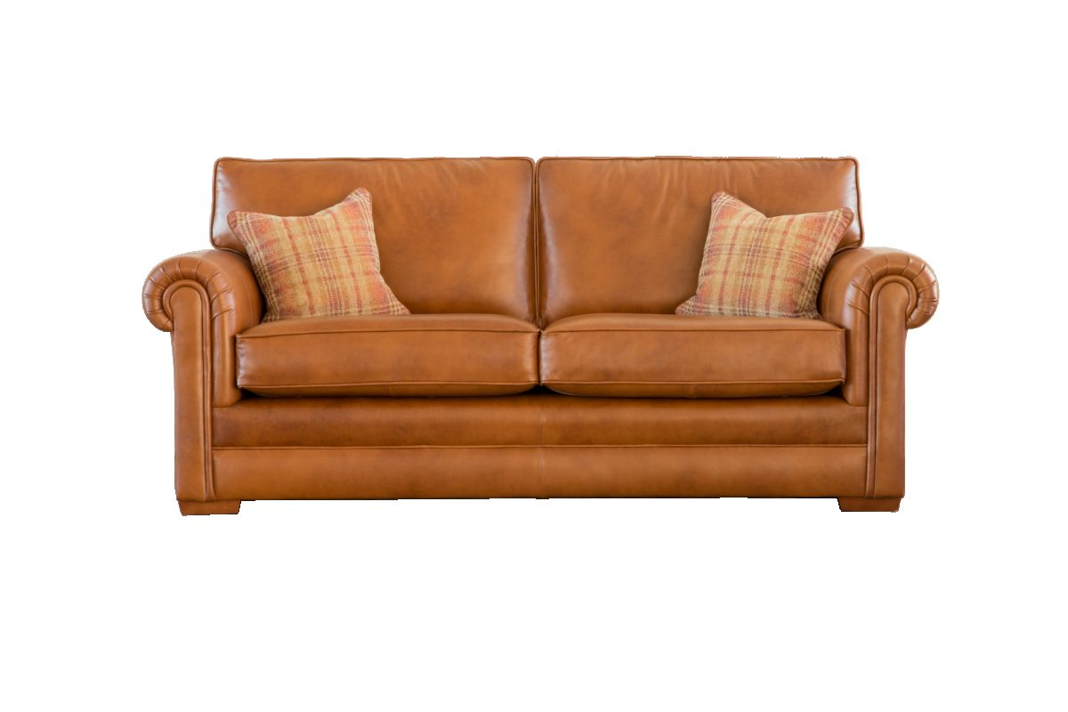 Canterbury Large 2 Str Sofa Front Leather