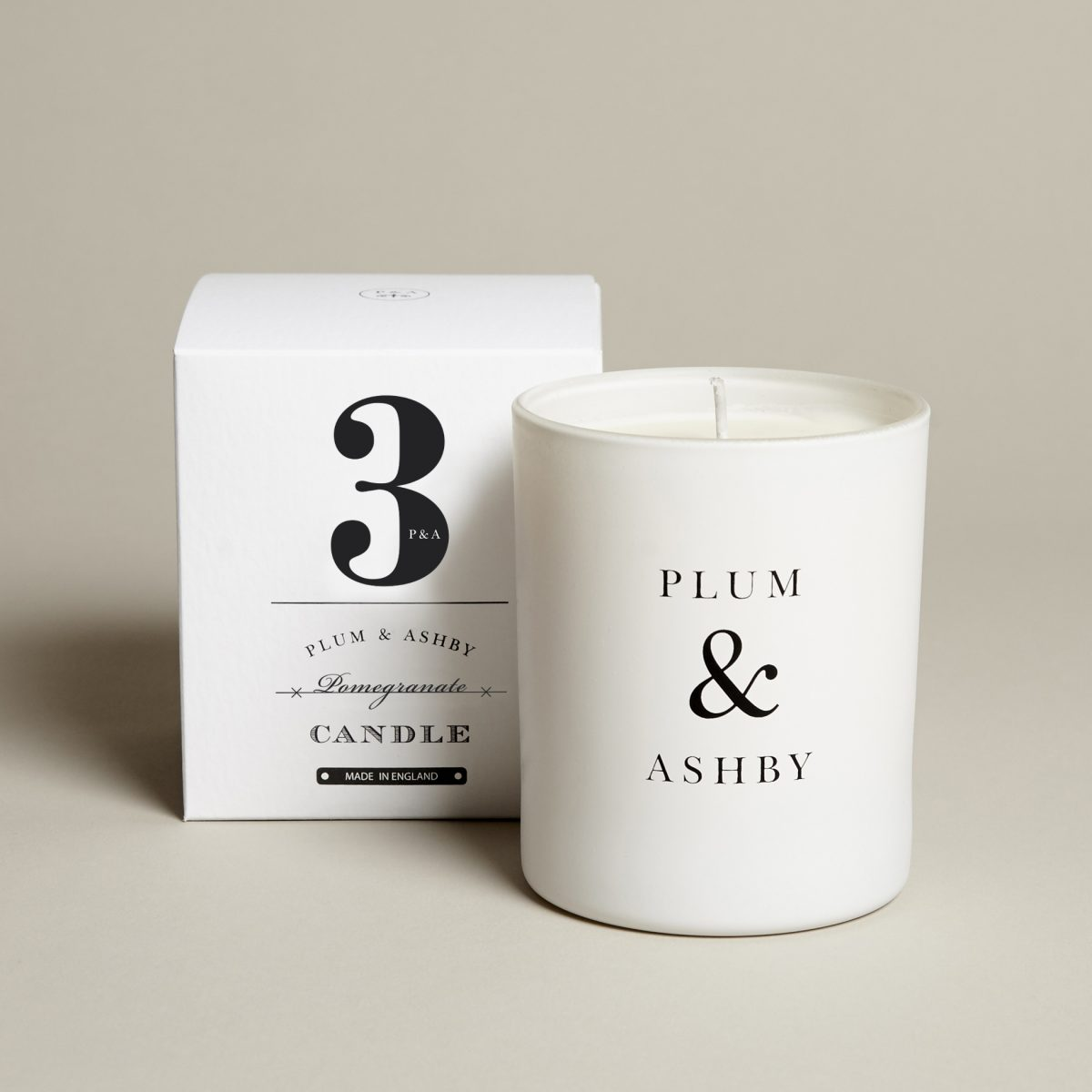 3 Pomegranate Candle