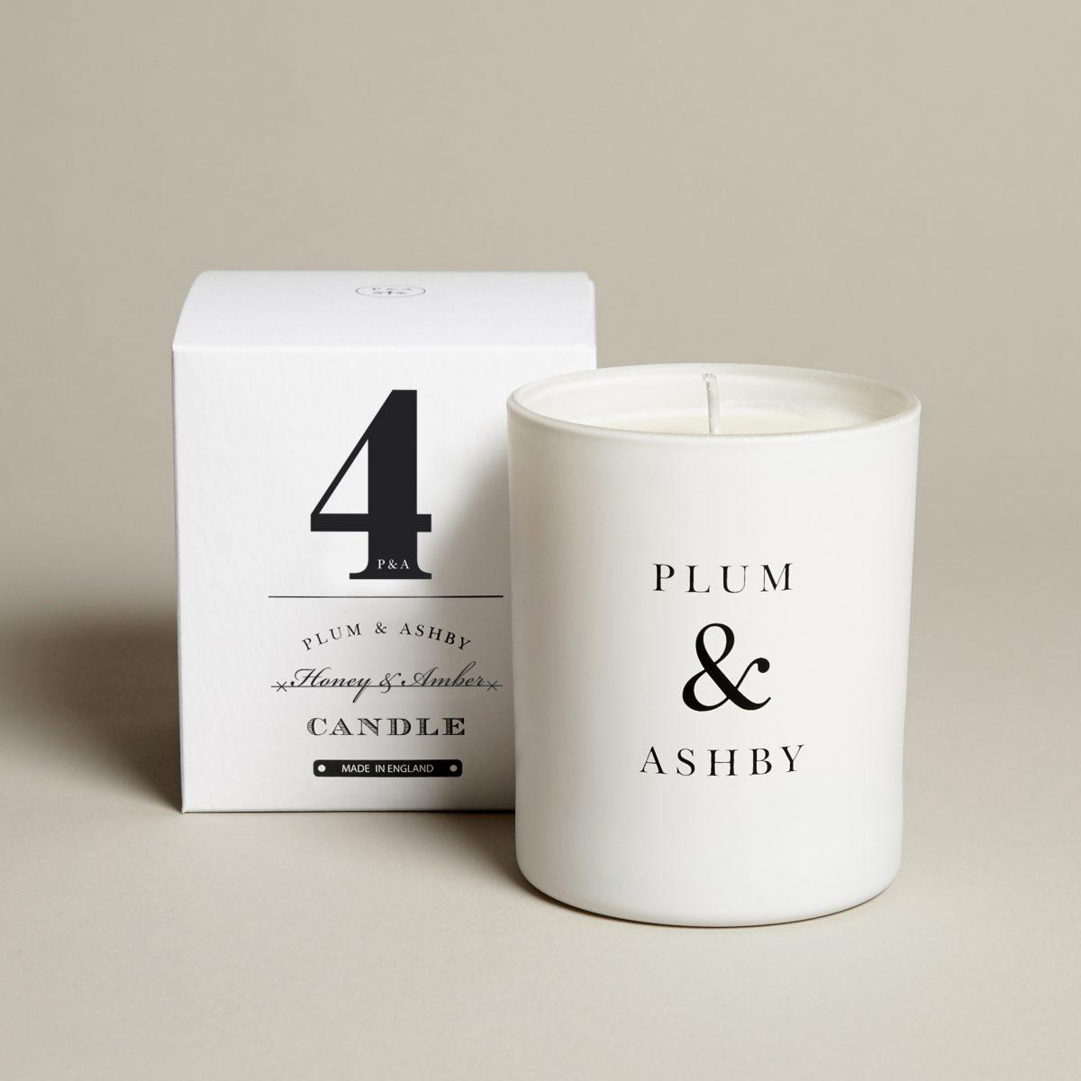 4 Honey Amber Candle
