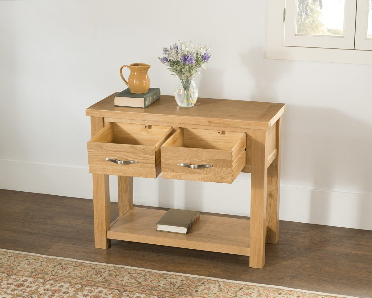 4 58 08 Console With 2 Drawers 2A Open