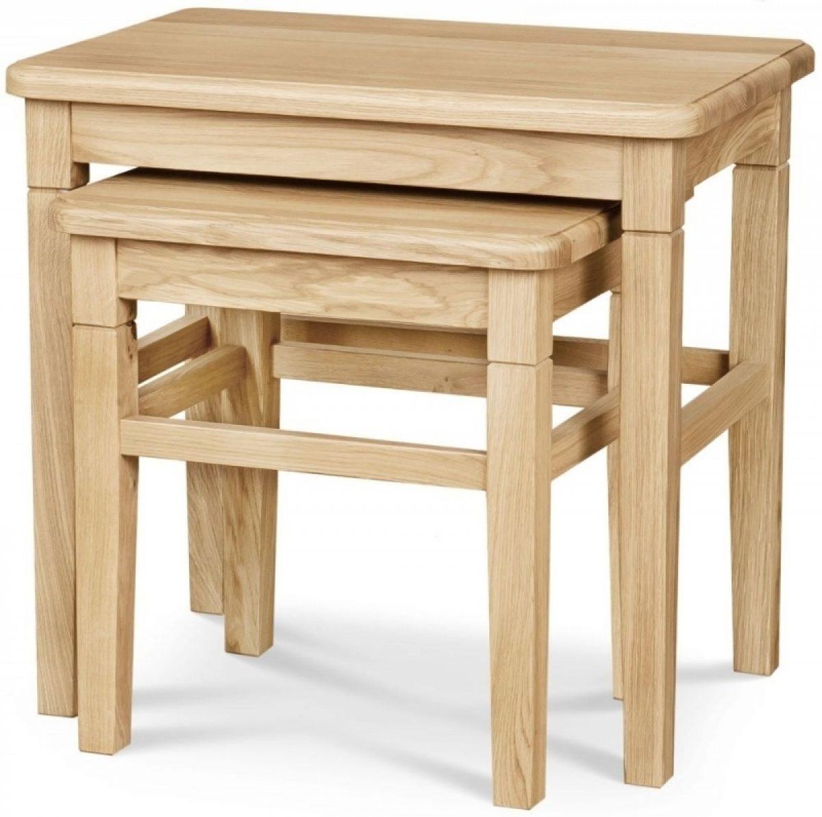 4 Clemence Richard Moreno Oak Nest of 2 Tables 01