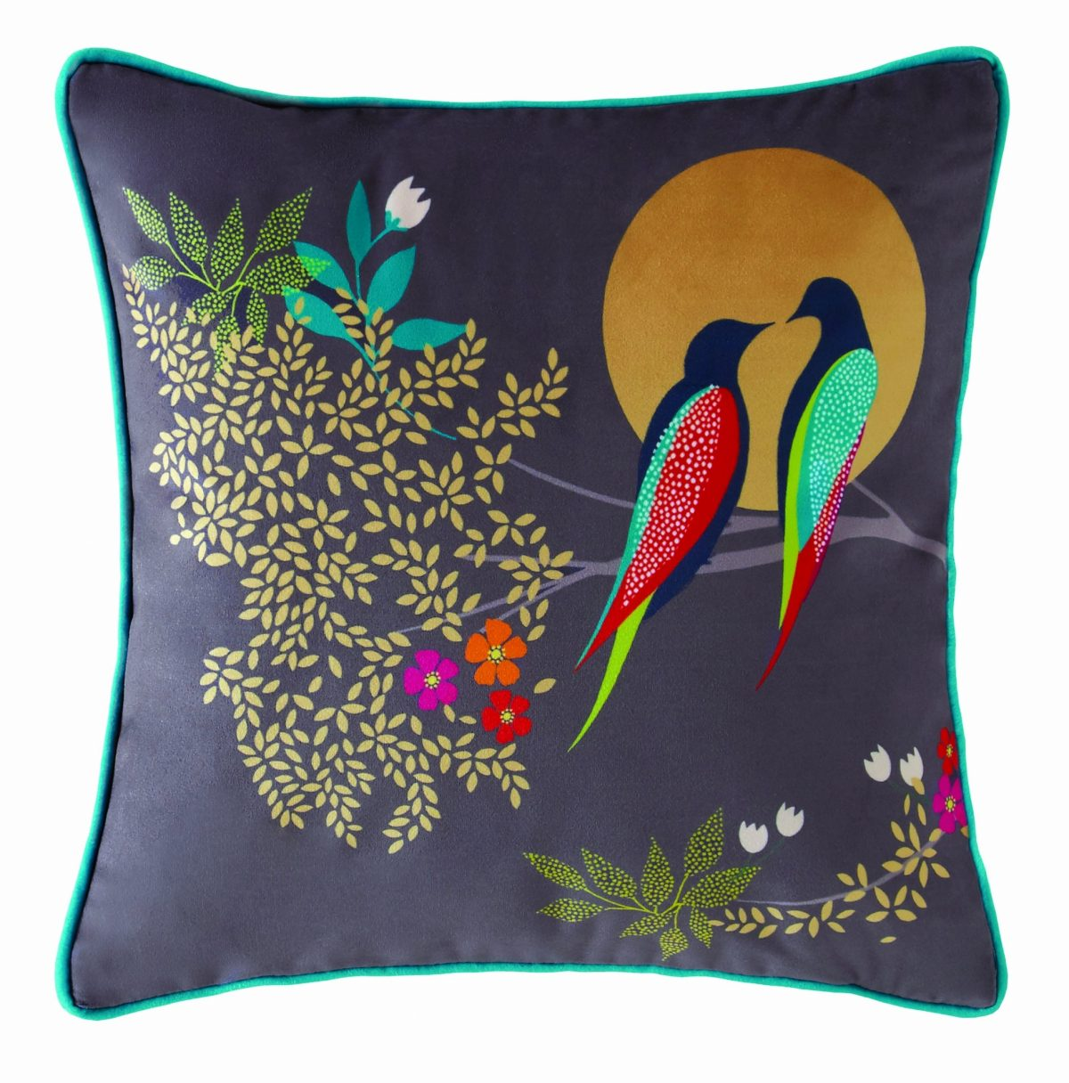 Birds at Dusk Cushion 30x30 1