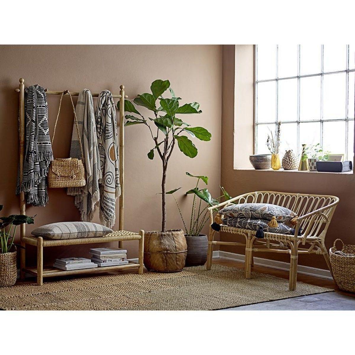 Bloomingville Recycled Cotton Mix Blanket Throw Black White82049671 2 900x900