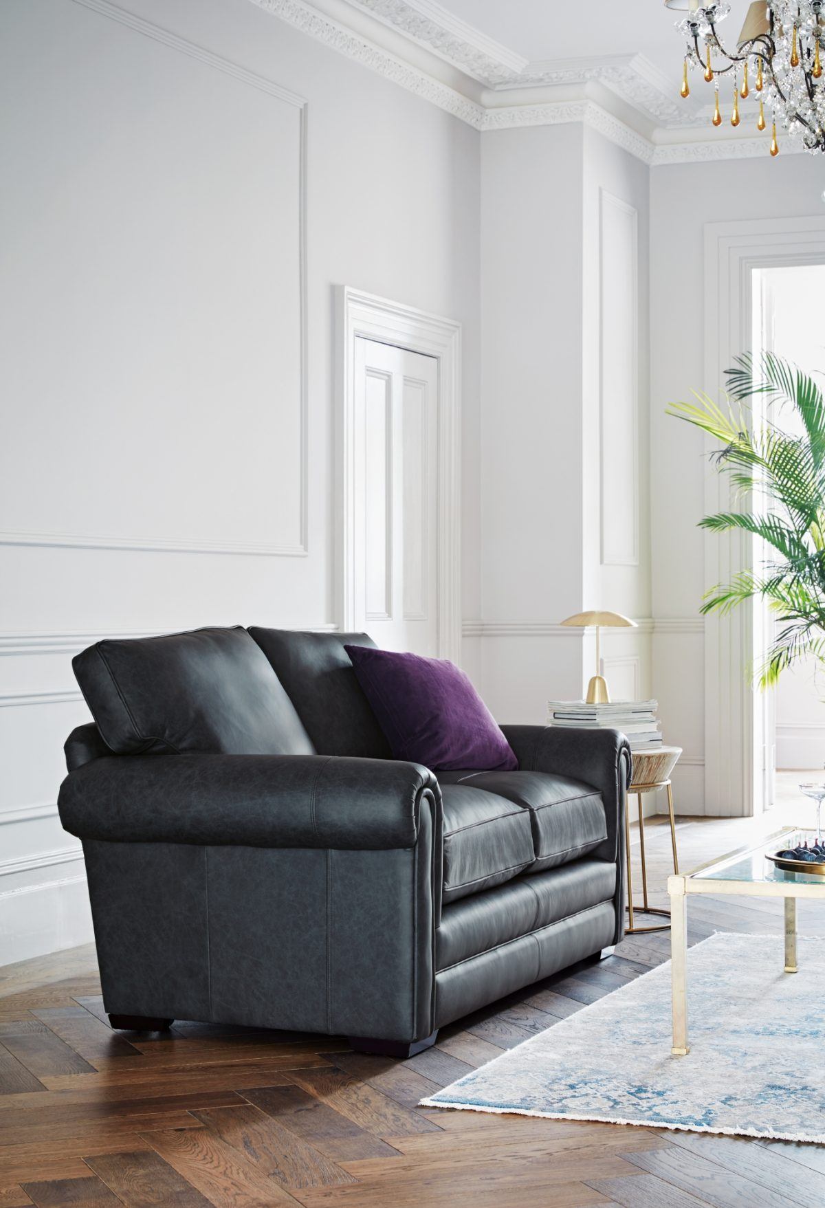 Canterbury Two Seater Sofa in Oxford Midnight