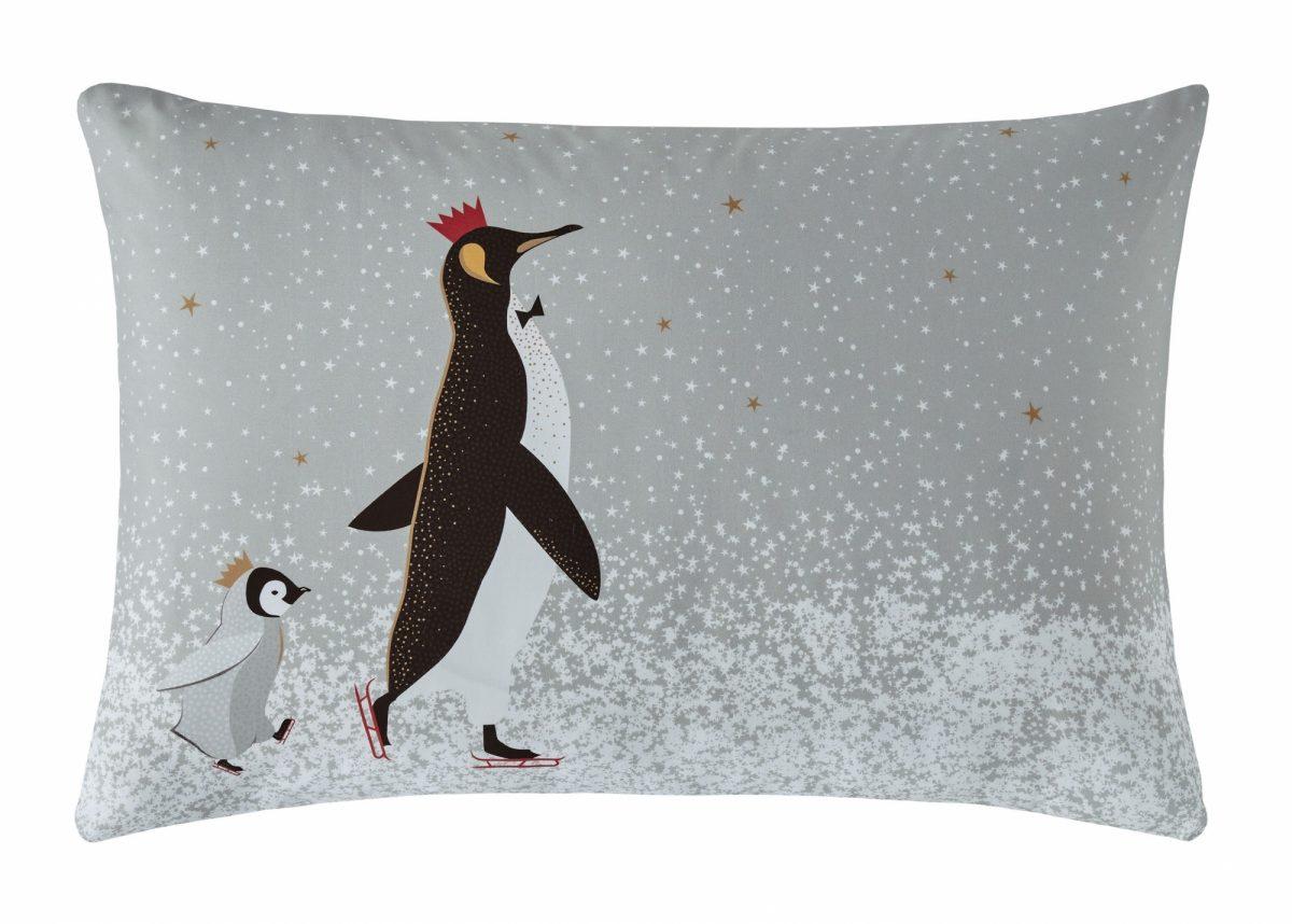 Christmas Penguins Left Pillowcase Cut Out