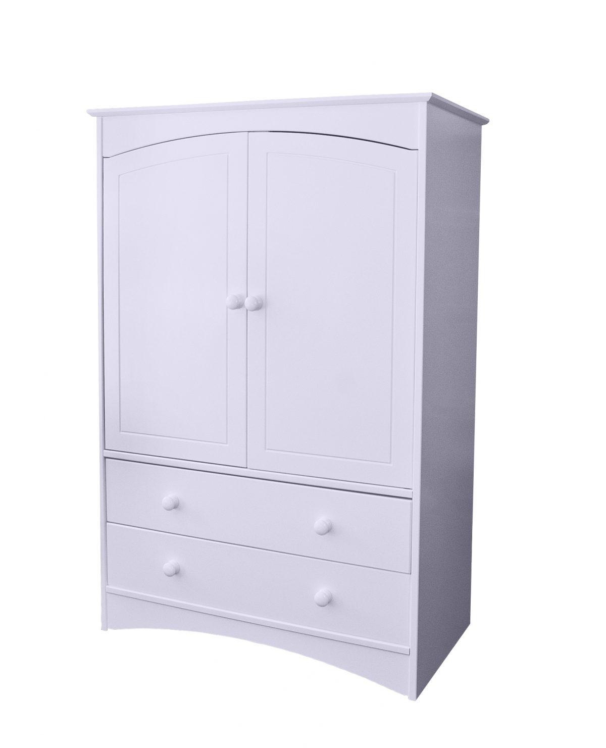 Elfin Small 2 Drawer Wardrobe Lavender Hill