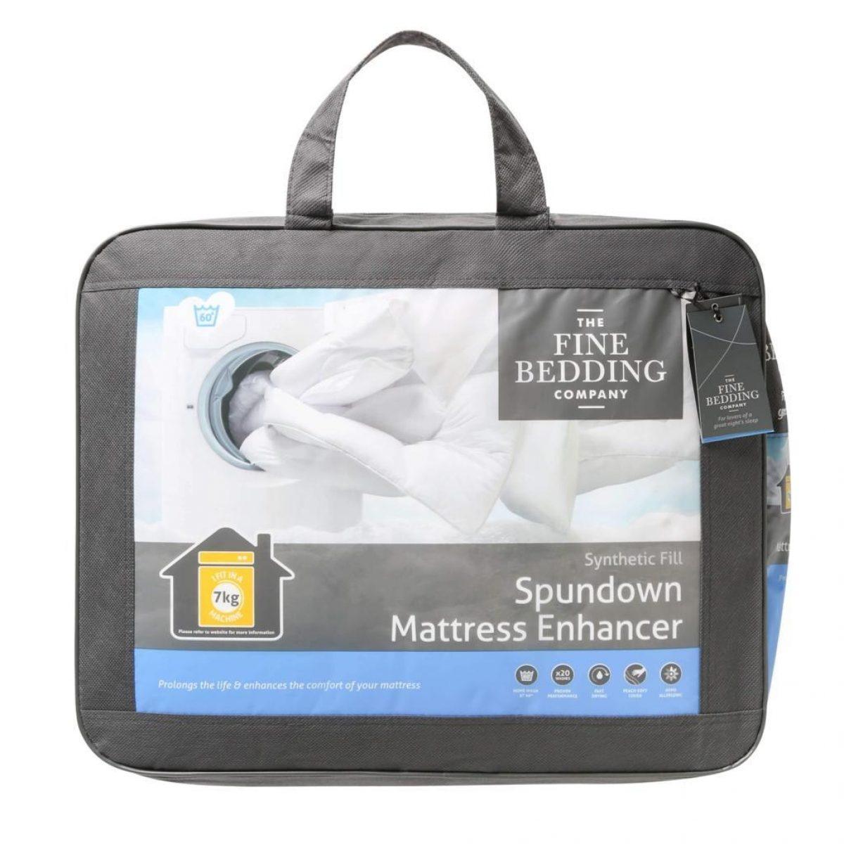Fine Bedding Spundown Mattress Enhancer Packed 1024x1024