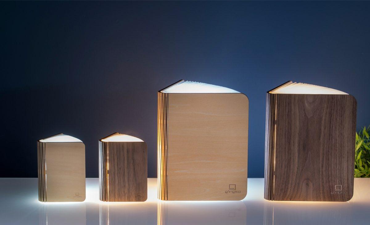 Gingko Smart Book Light Natural Wood05