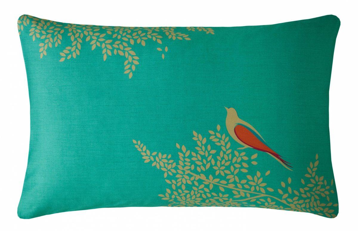 Green Birds Right Pillowcase Cut Out