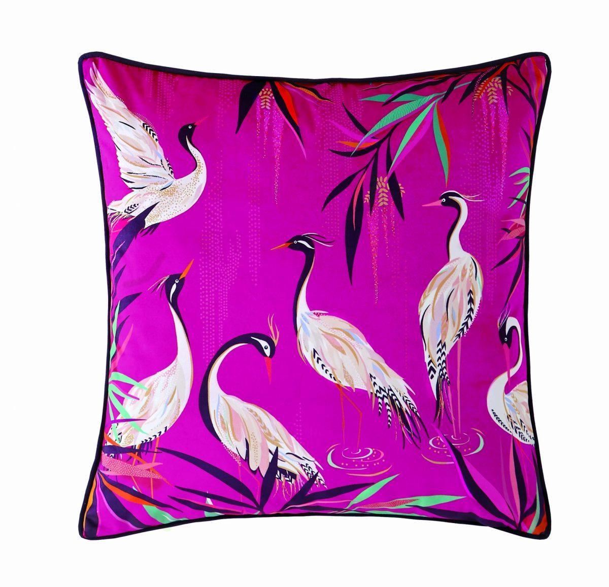 Heron Pink Cushion 50x50 1