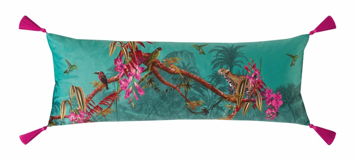 Hibiscus Jade Cushion 30x80