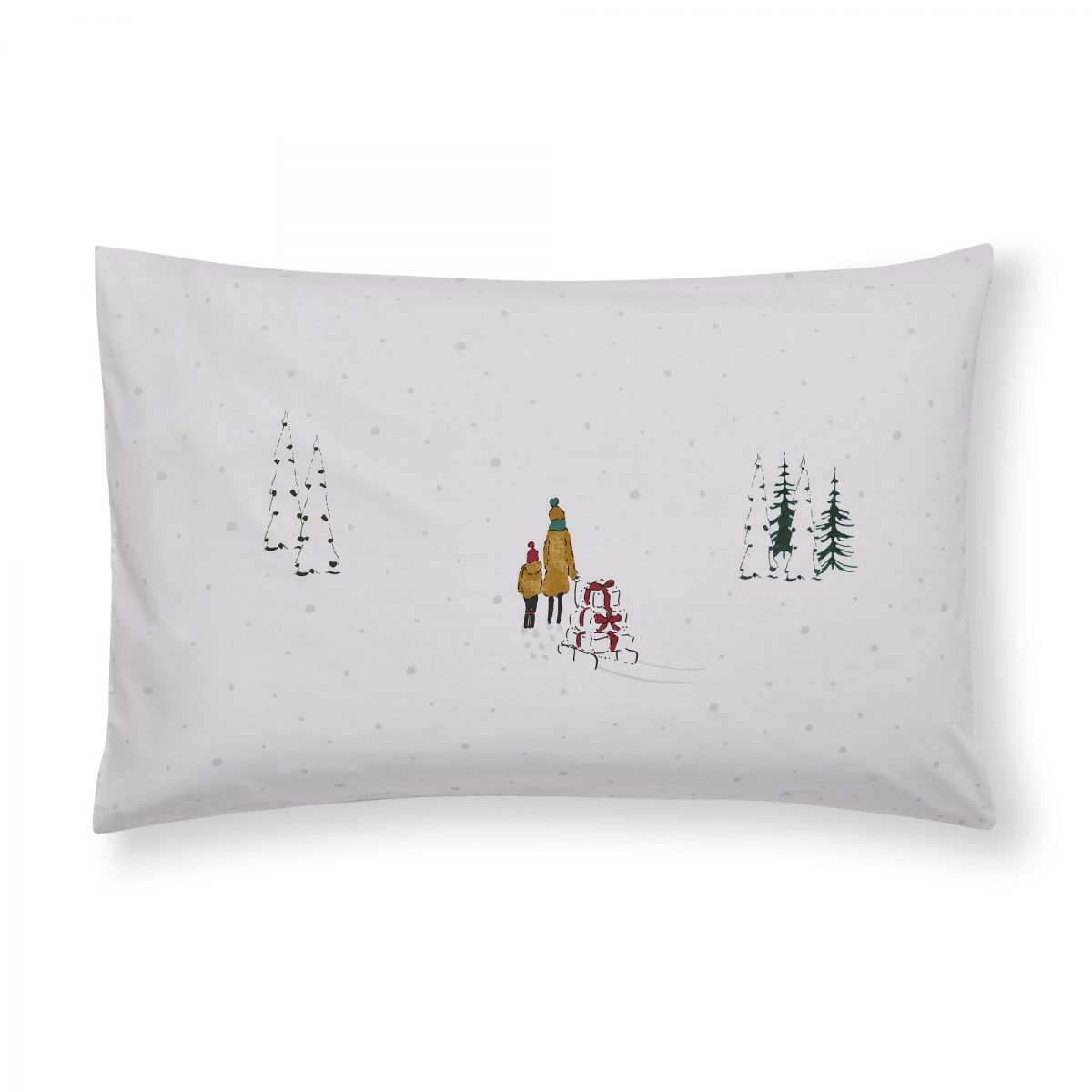 Home For Christmas Pillowcase Cut Out email
