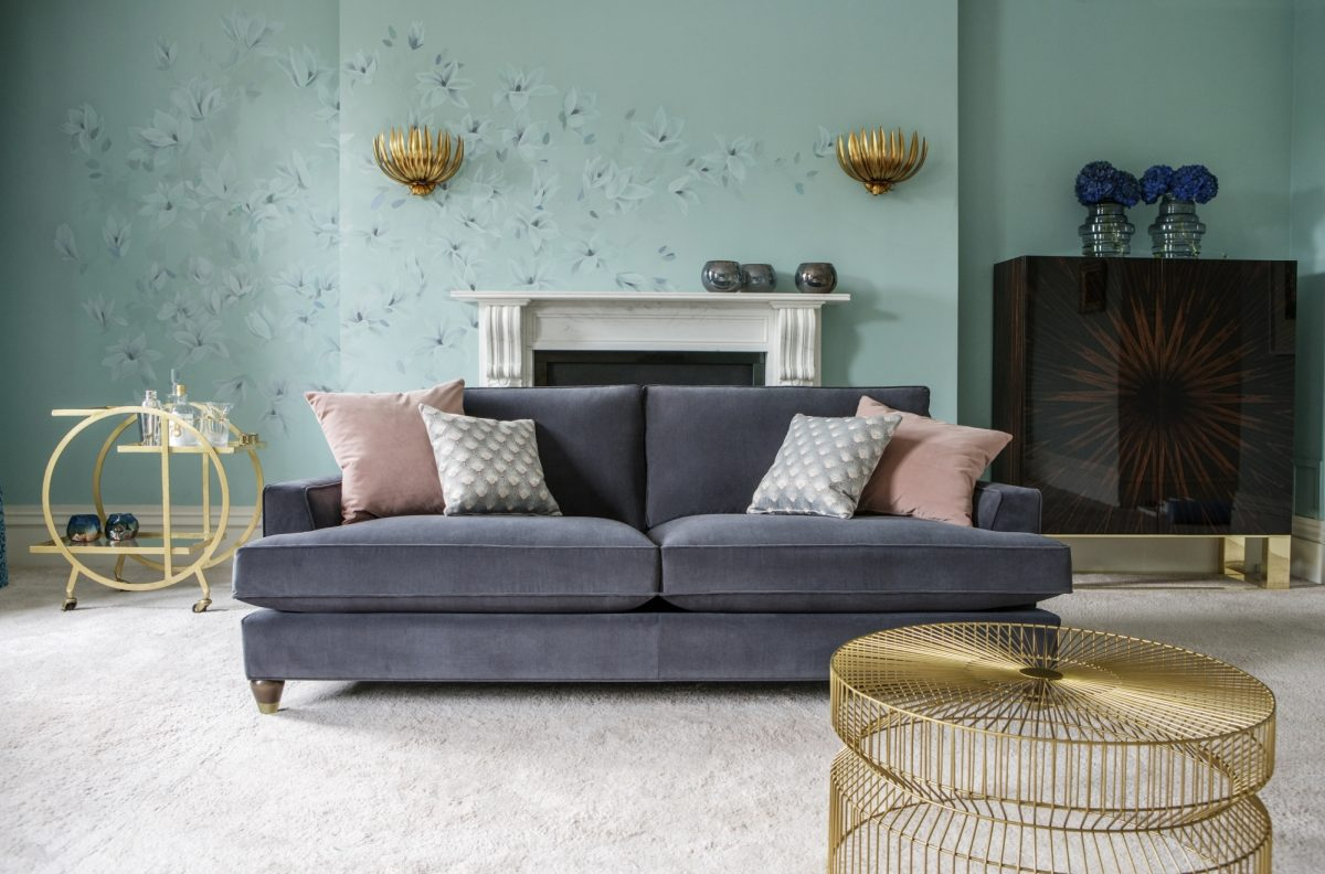 Hoxton Grand Sofa in Bracklyn Charcoal