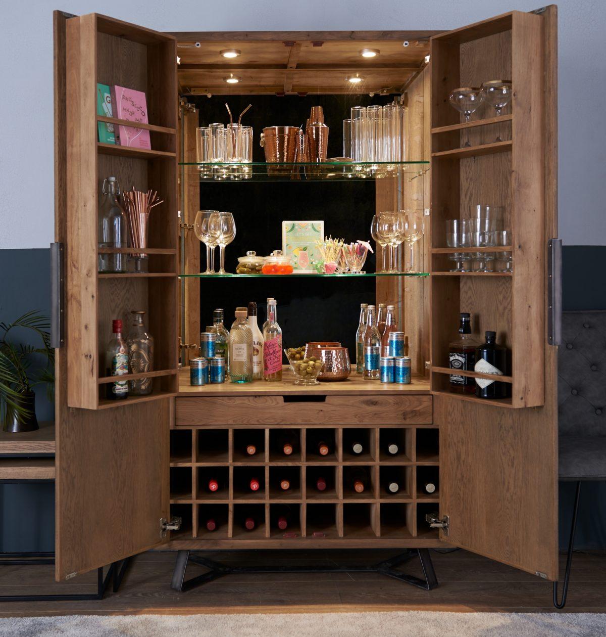 IB drinks cabinet open