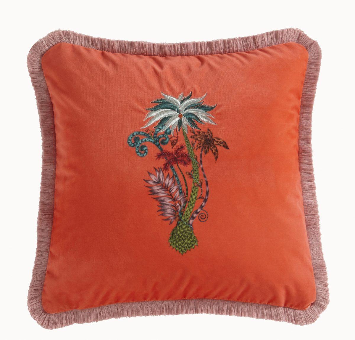Jungle Palms Squ Coral 018