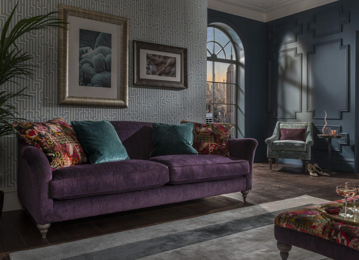 Lamour Grand Sofa Kuba Amethyst B4