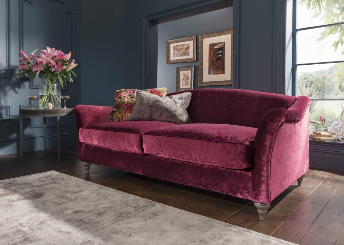 Lamour Mid Sofa Opium Red B