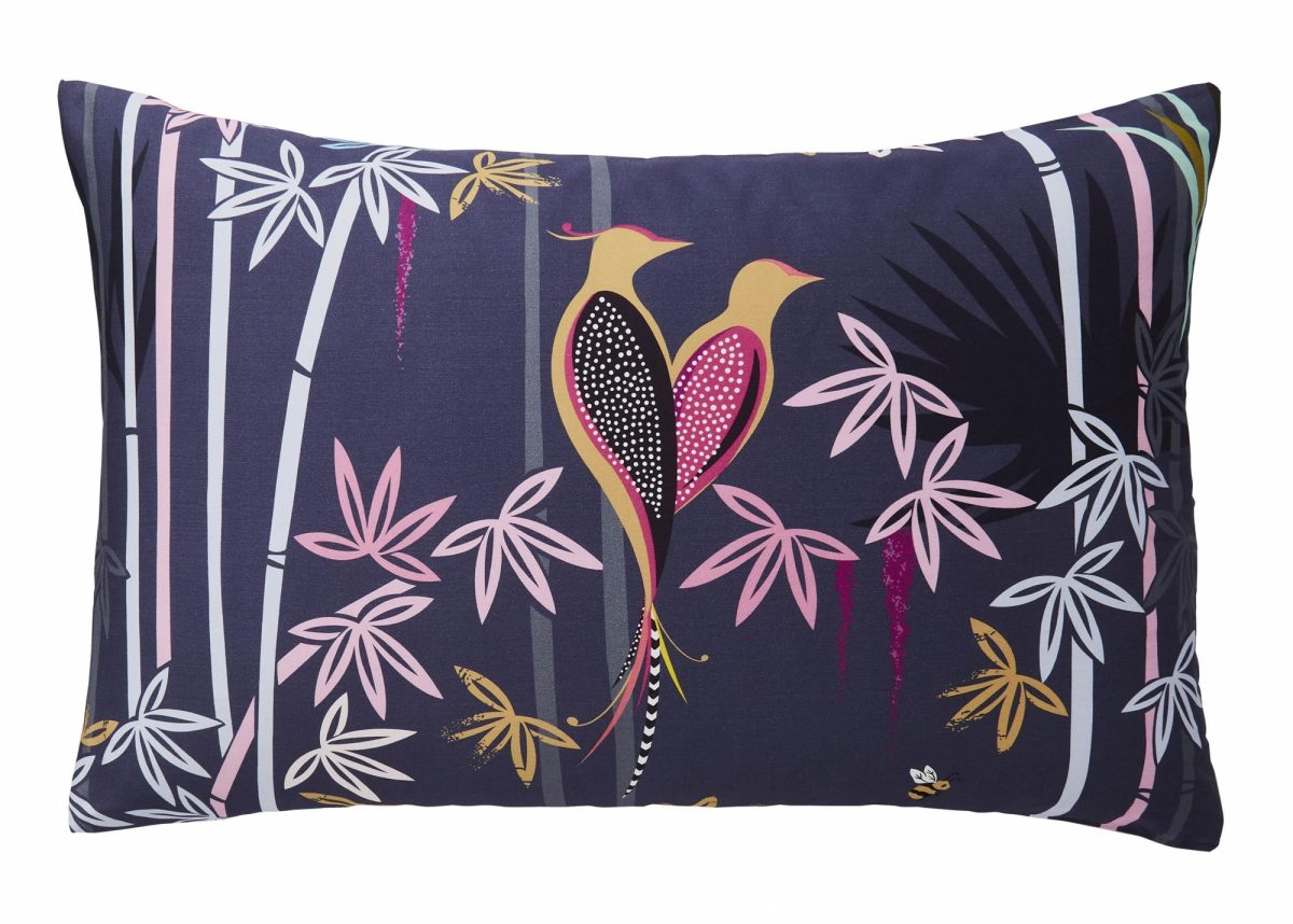 Linear Bamboo Left Pillowcase Cut Out