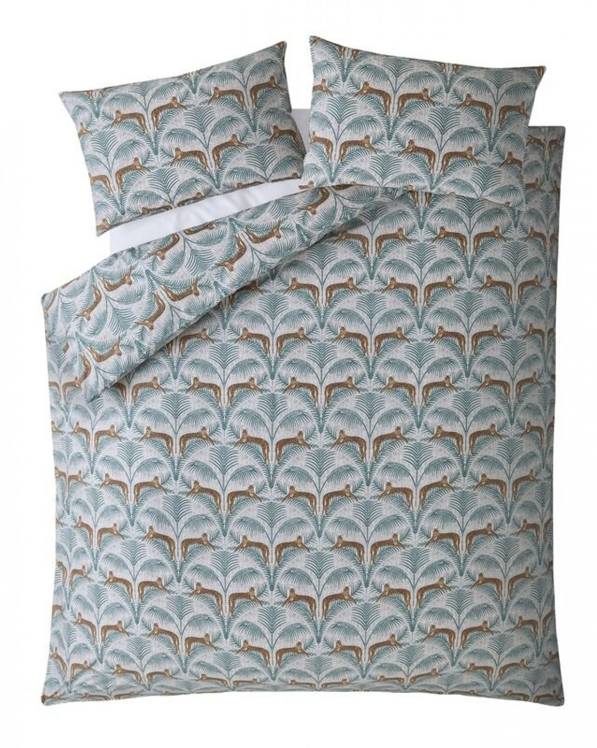 Lounging Leopards180 TC Duvet Cover Set 1