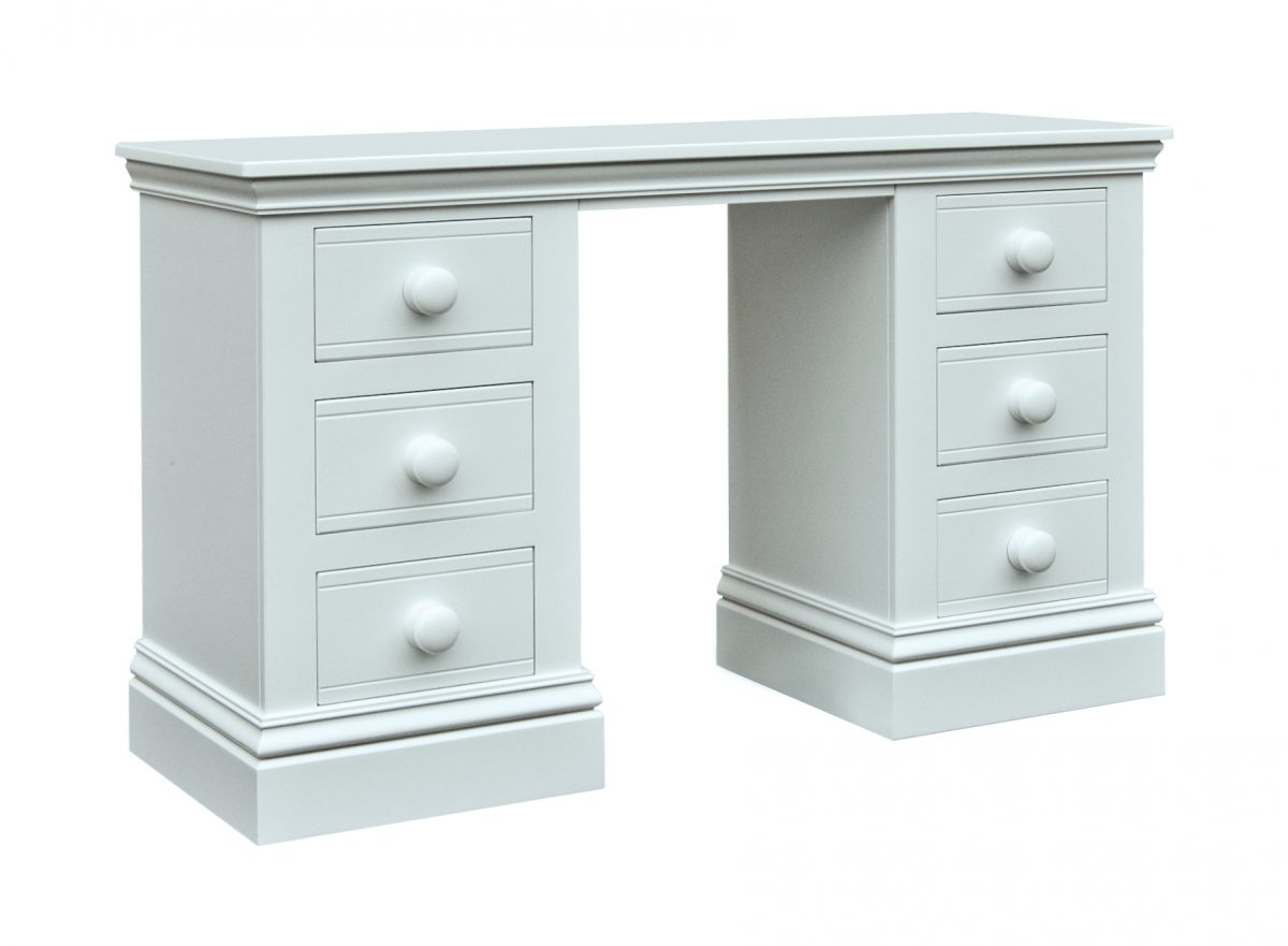 Majestical Double Pedestal Desk Little Boy Blue