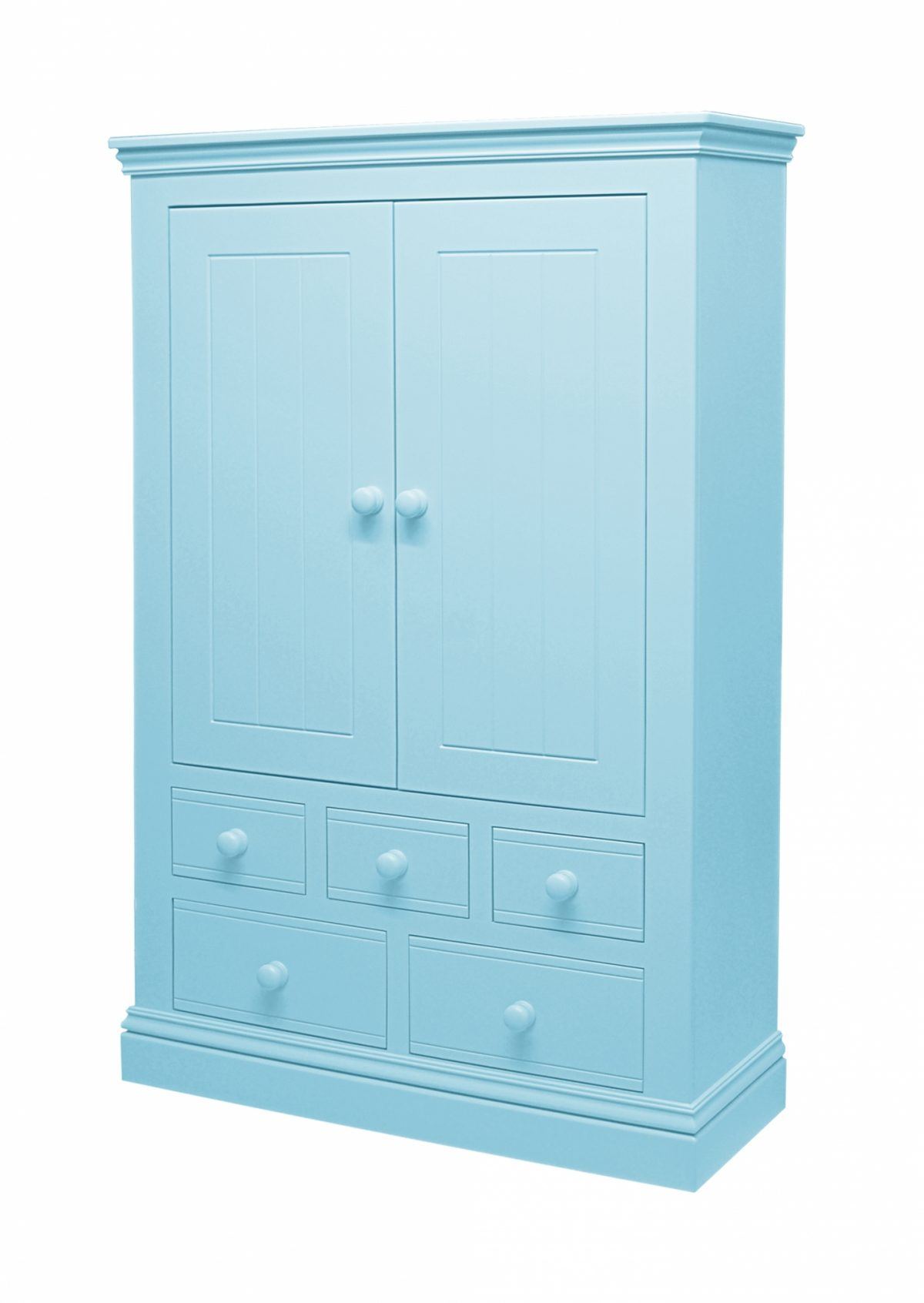 Majestical Grooved Combi Wardrobe Ocean Blue