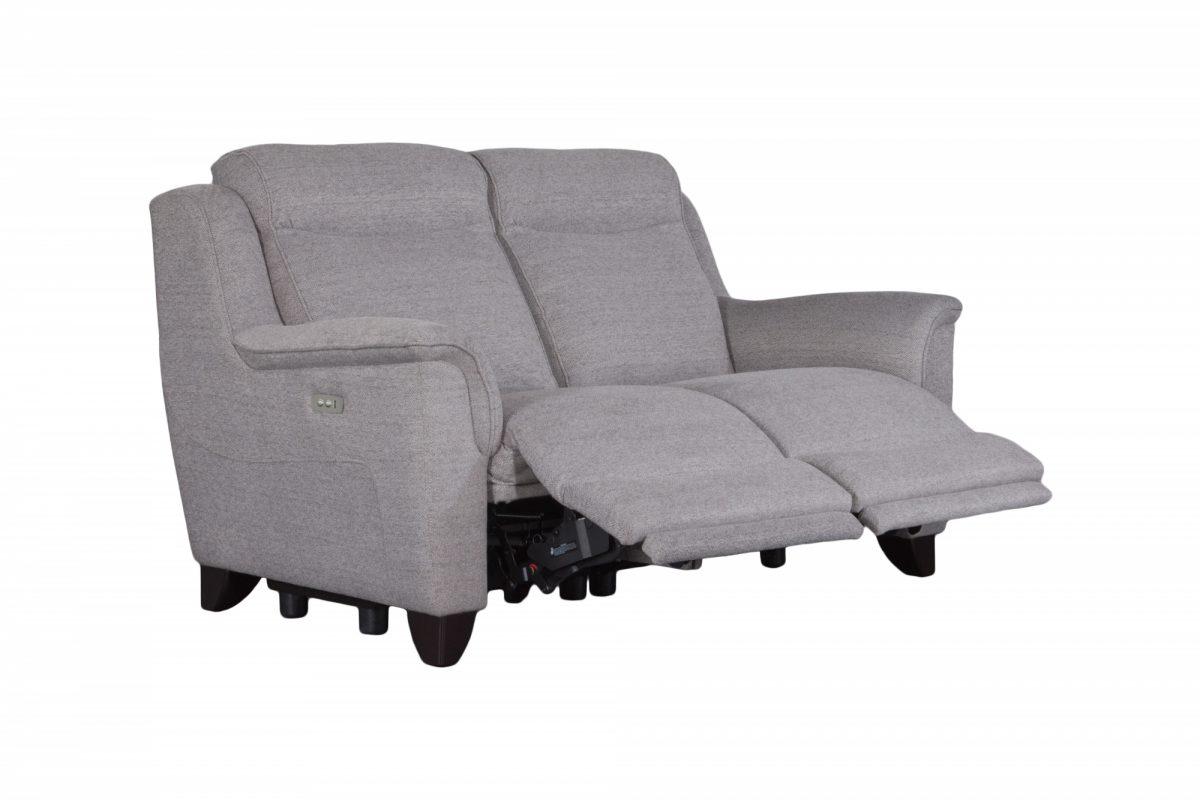 Manhattan Recliner Two Seater Sofa 3 4 Fabric