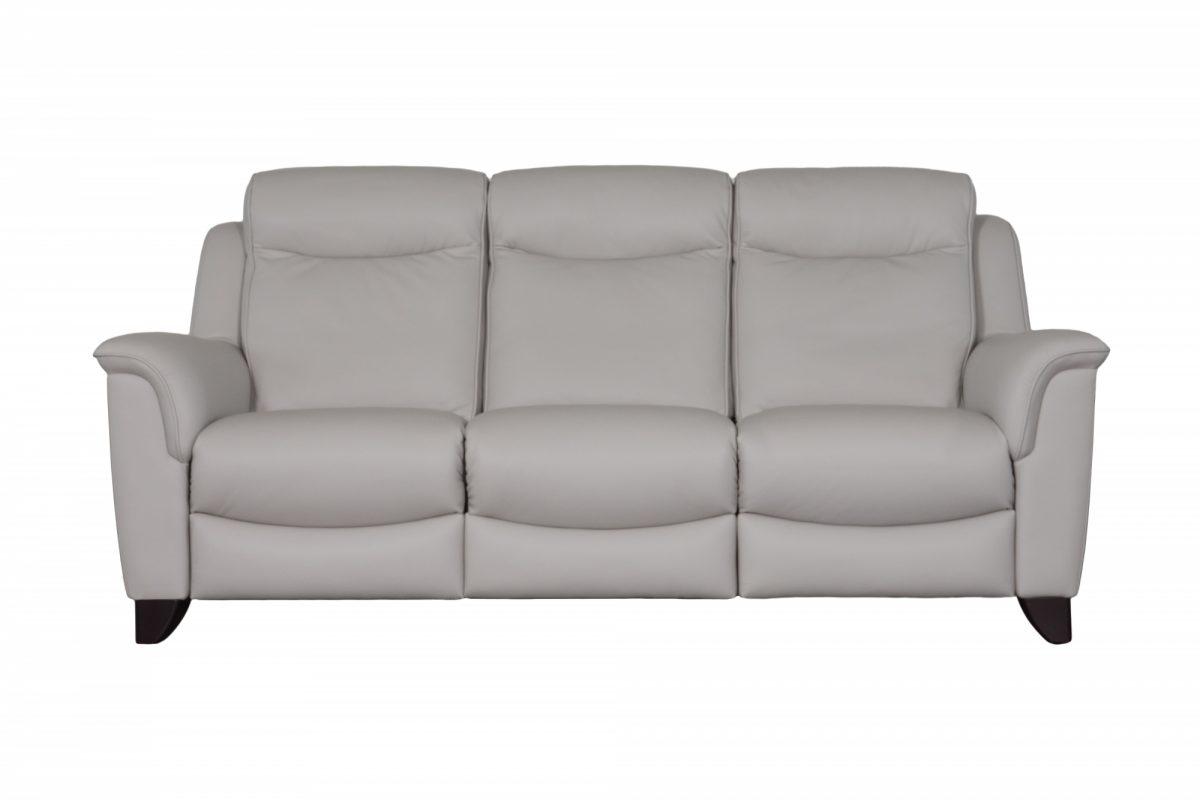 Manhattan Three Seater Sofa Front Leather