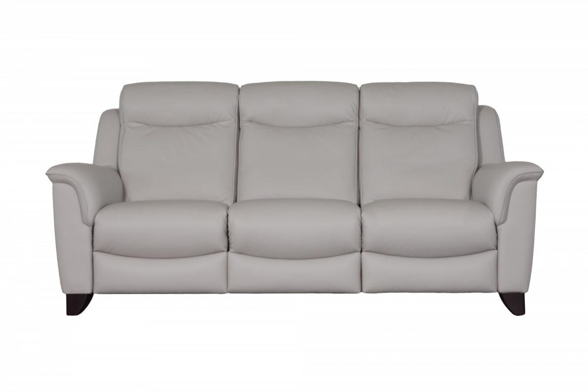 Manhattan Three Seater Sofa Front Leather