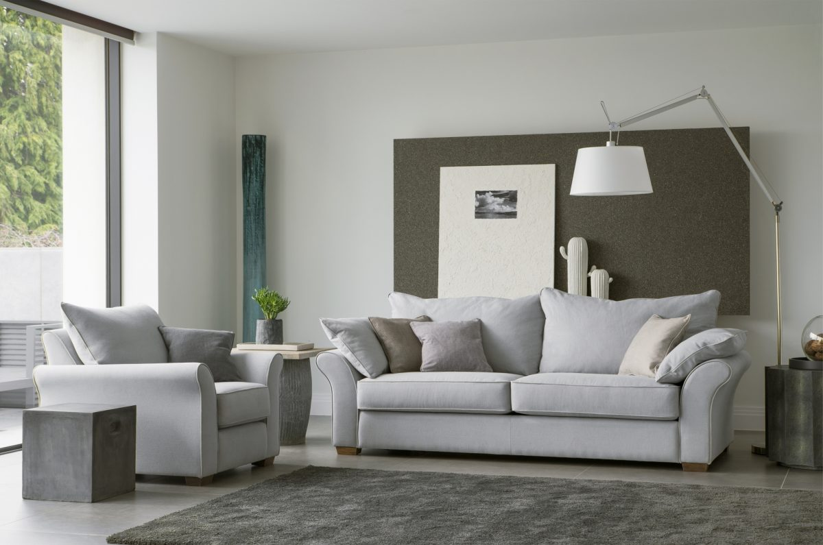 Miller L Sofa Chair Geneva Steel DSC2567