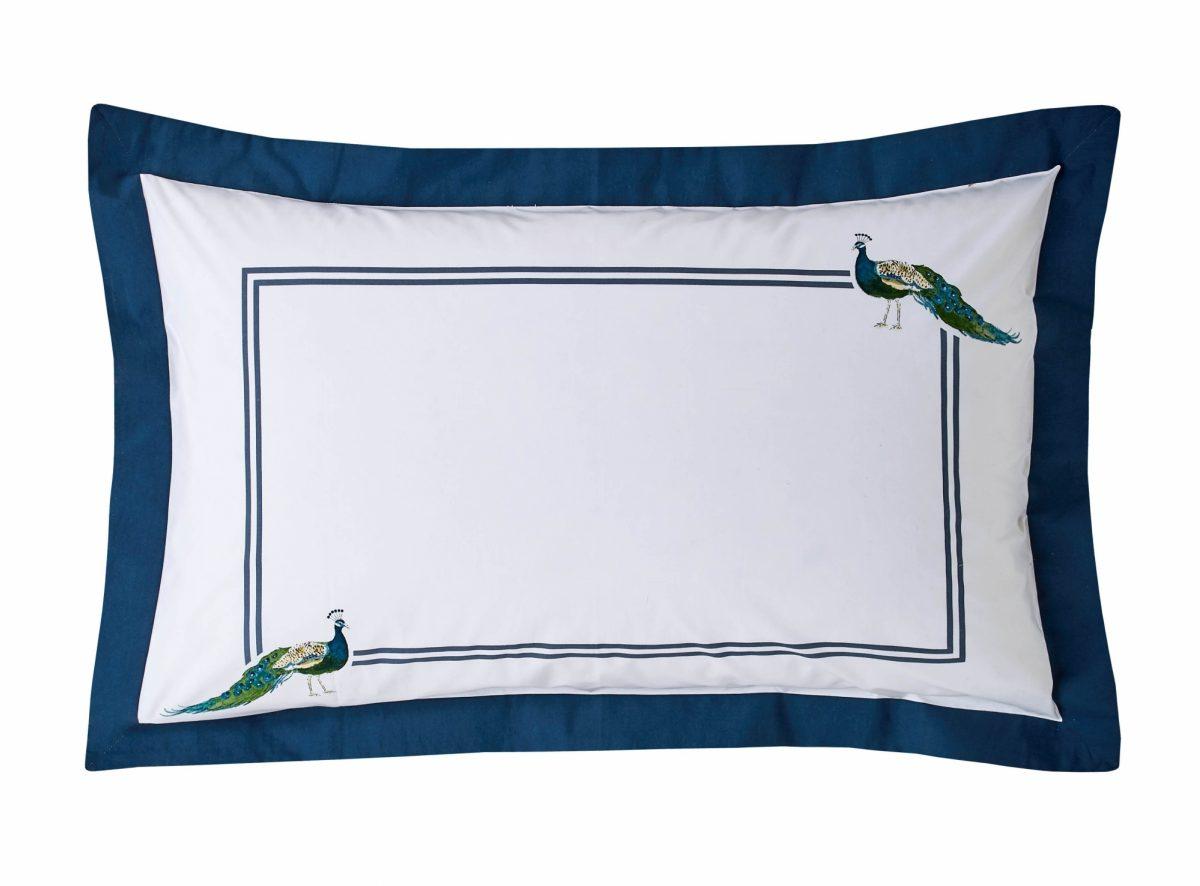 Peacock Oxford Pillowcase Cut Out