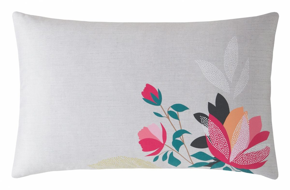 Peony Petals Grey Right Pillowcase 1