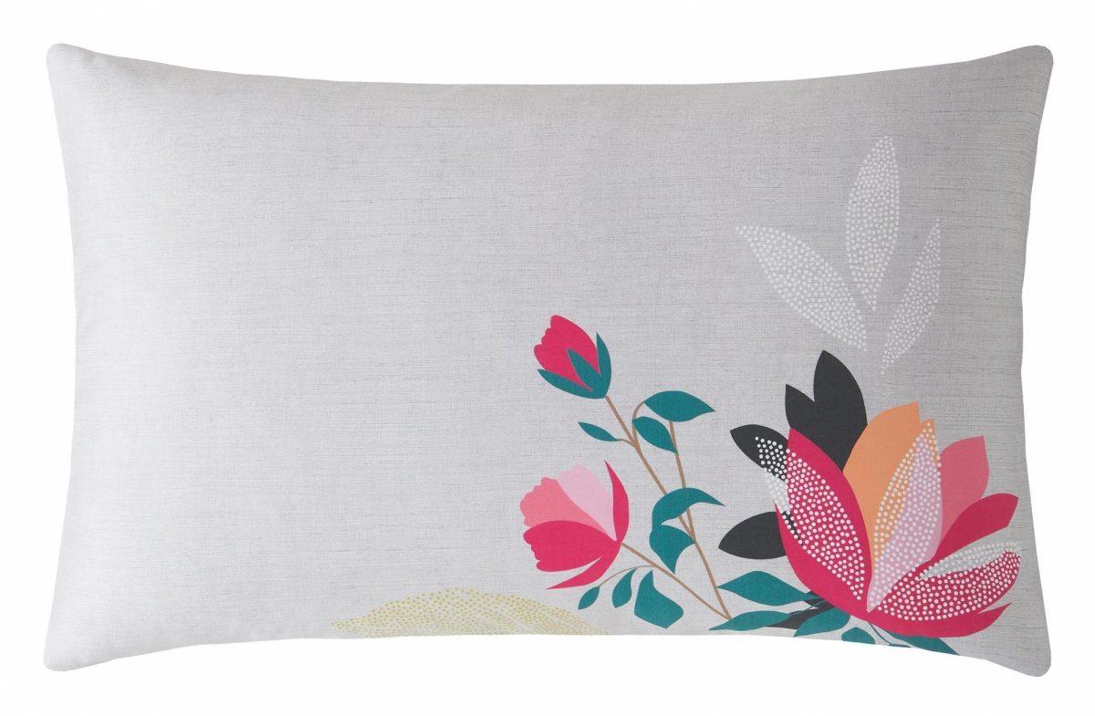 Peony Petals Grey Right Pillowcase 1
