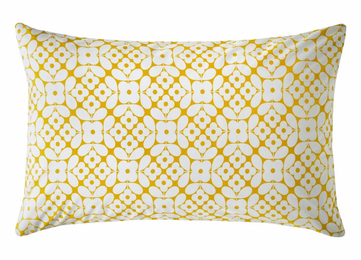 Placement Flower Tile Pillowcase Cut Out Reverse