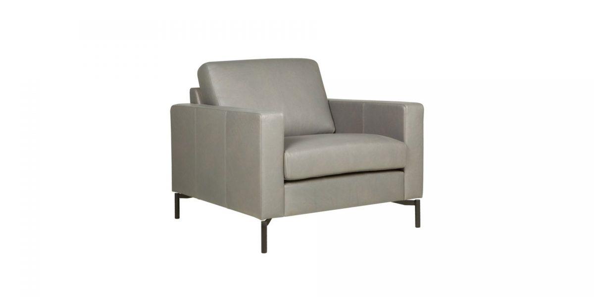 QUATTRO armchair aniline grey 2