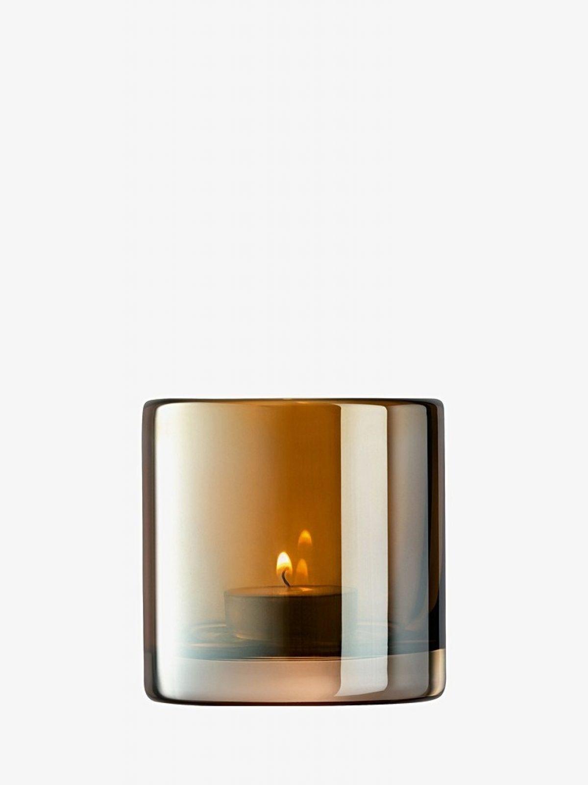 Qpoque amber tea Light holder