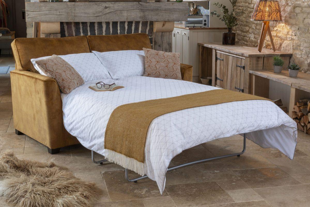 Reuben Sofa bed open in 9483