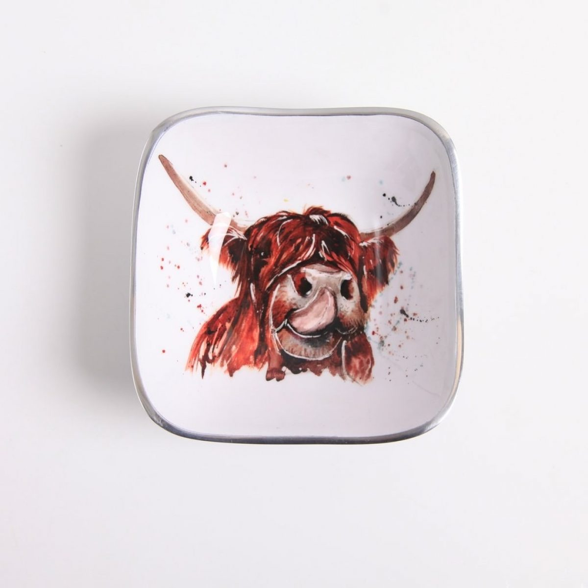 Square Bowl Highland cow 1