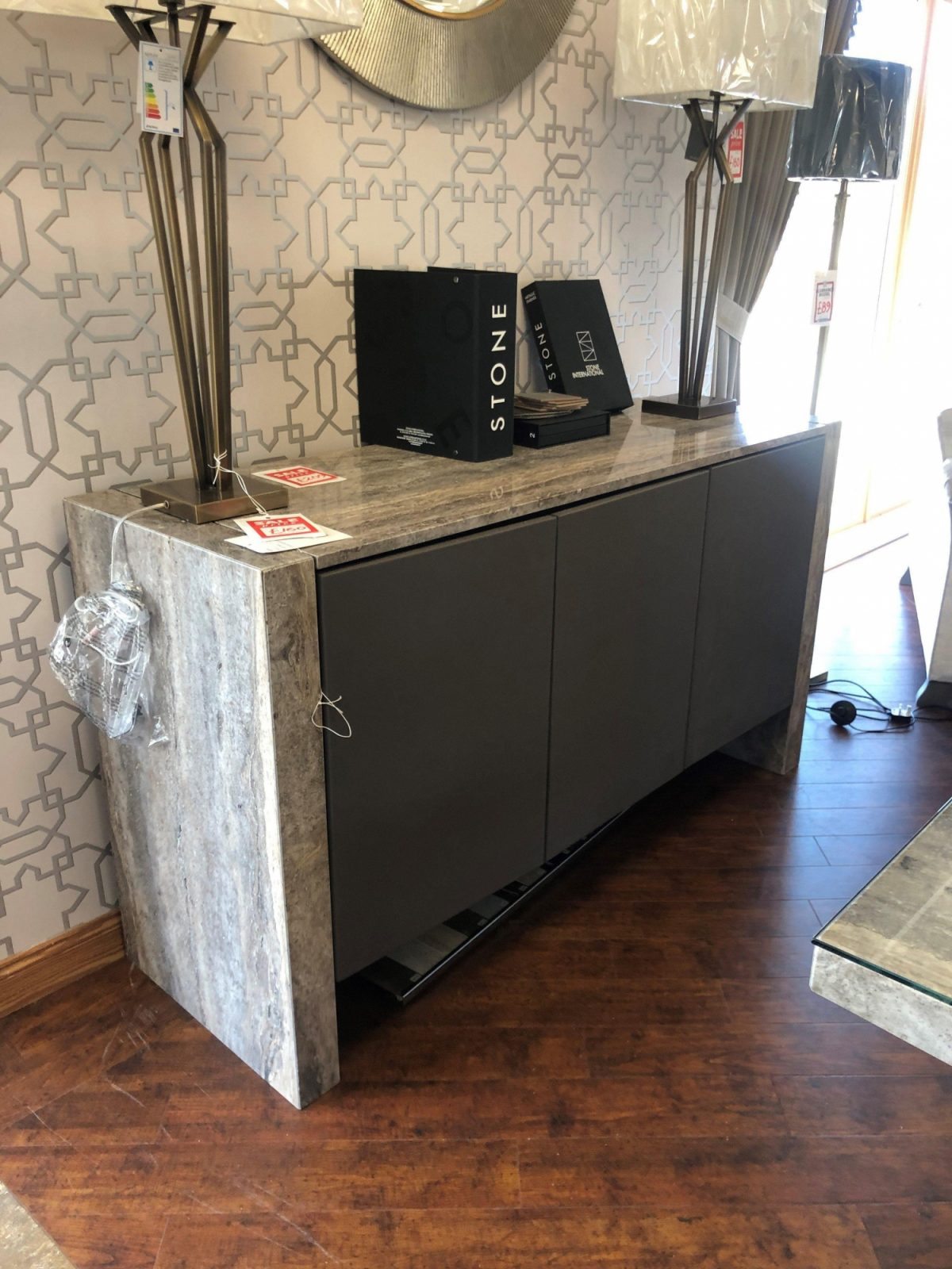 Stone int sideboard