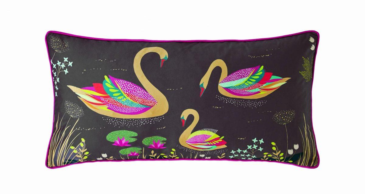 Swan Grey Cushion 60x30 1