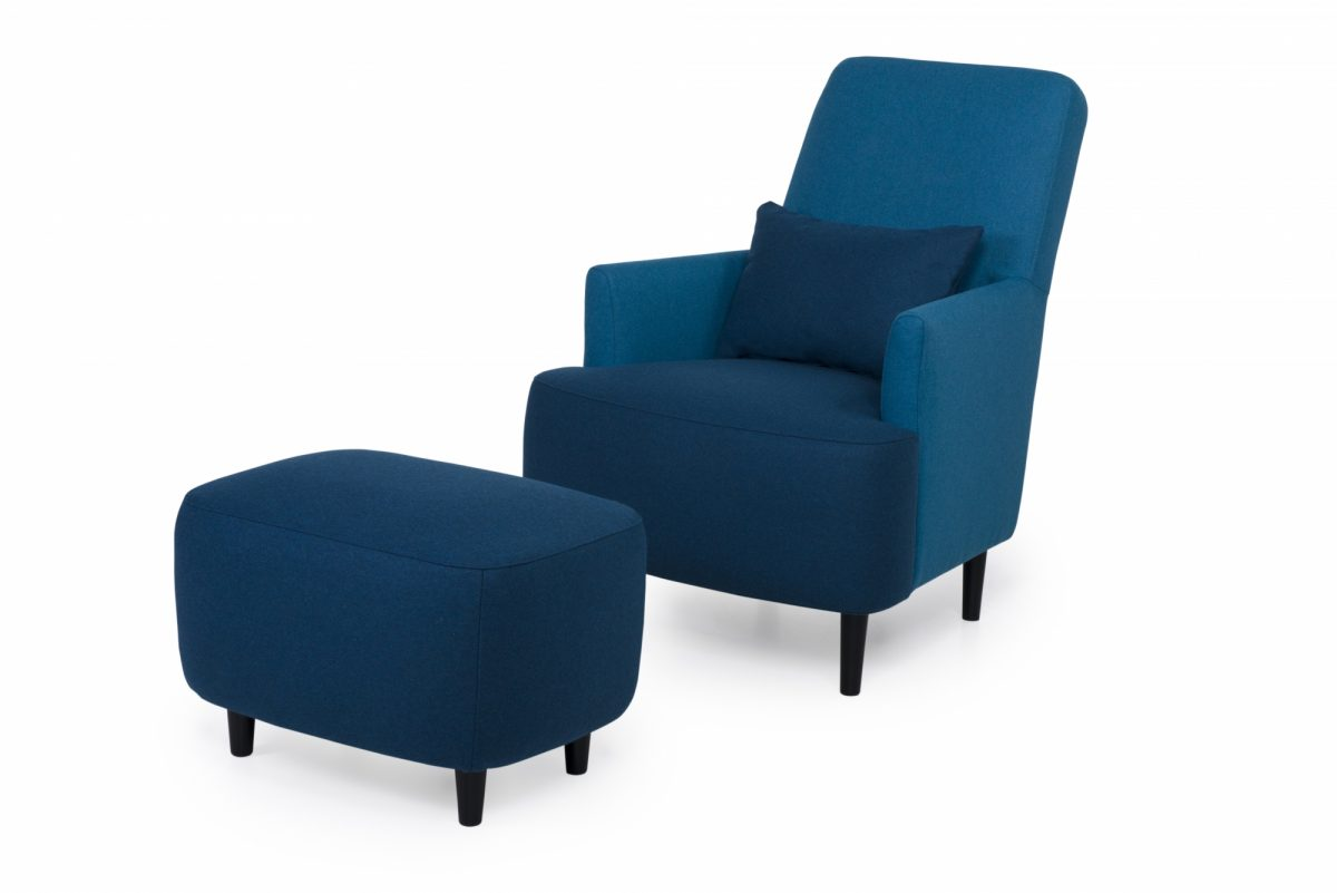 Trent Chair Footstool Devide 16 Blue Devide 16 2 Dark Blue
