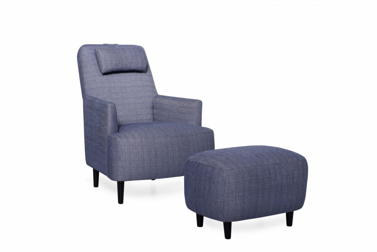 Trent Chair Pouffe Colombia 16 Blue