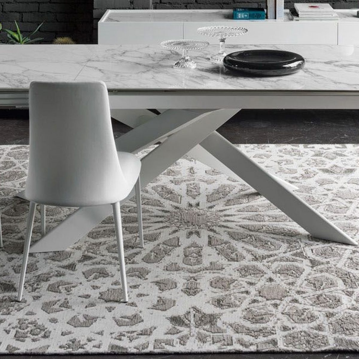 Arabia persian inspired rug with vintage look by calligaris 2