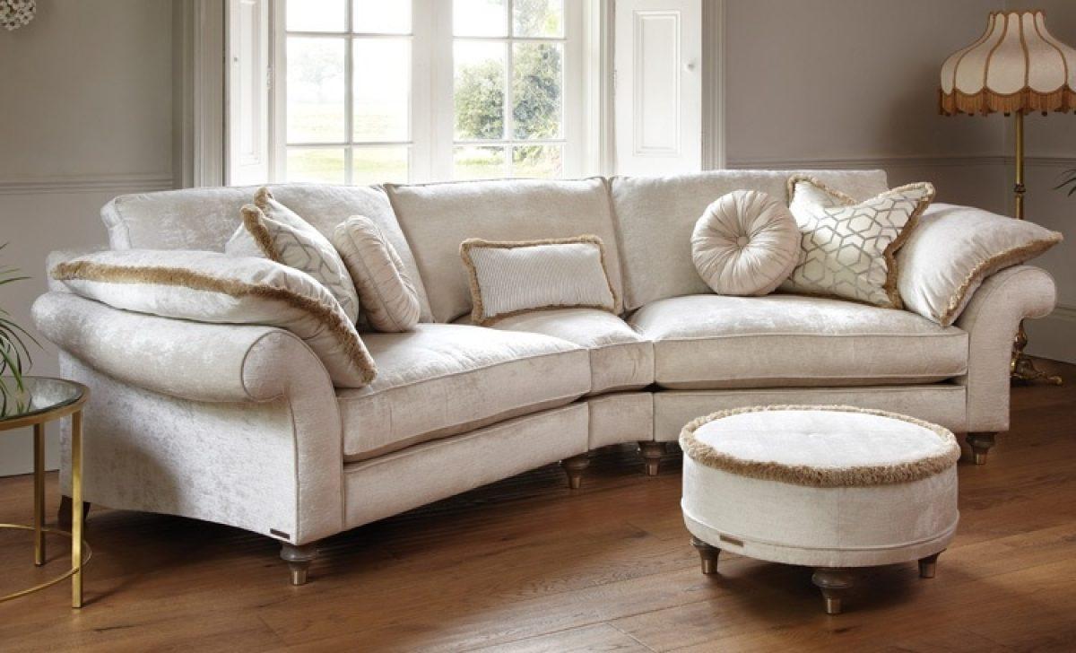 Duresta harvard curved sofa with wedge