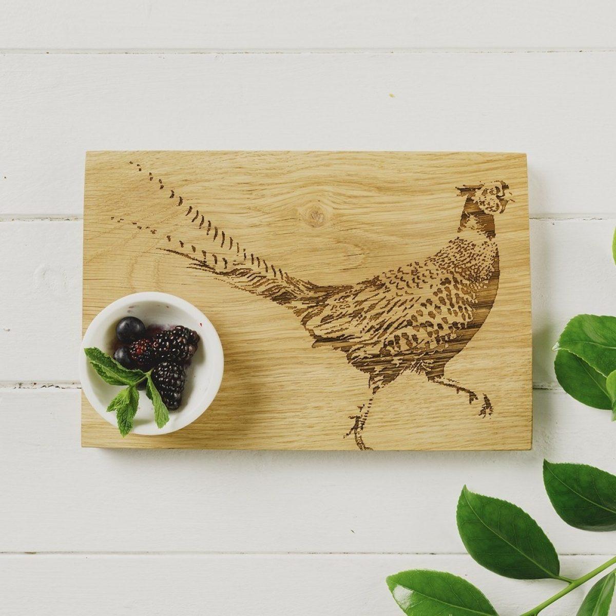 Jssosb30 pheasant oak serving board 30cm 1