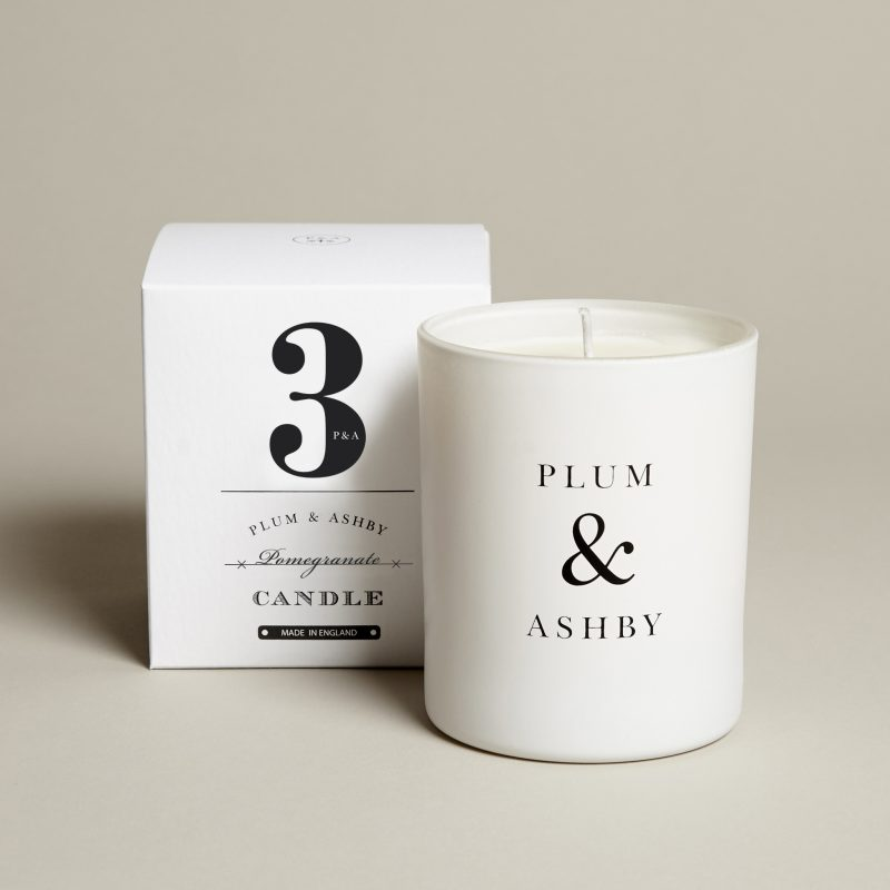 3 Pomegranate Candle