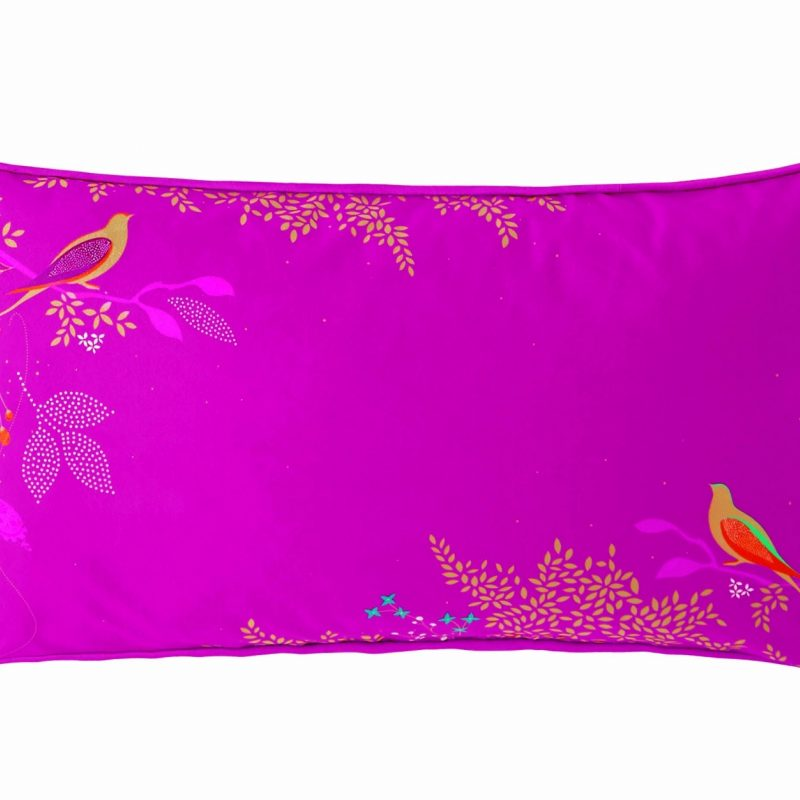 Cerise Birds Cushion 60x30 1