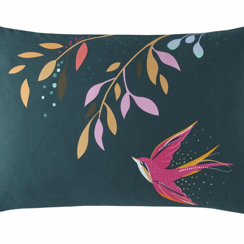 Dancing Swallows Right Pillowcase Cut Out