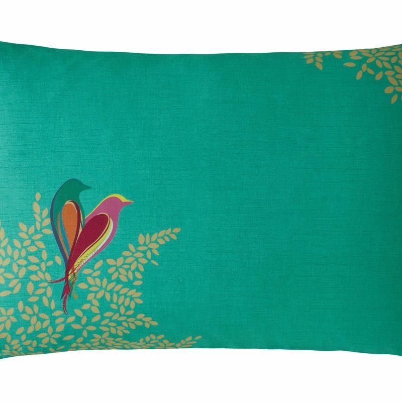 Green Birds Left Pillowcase Cut Out