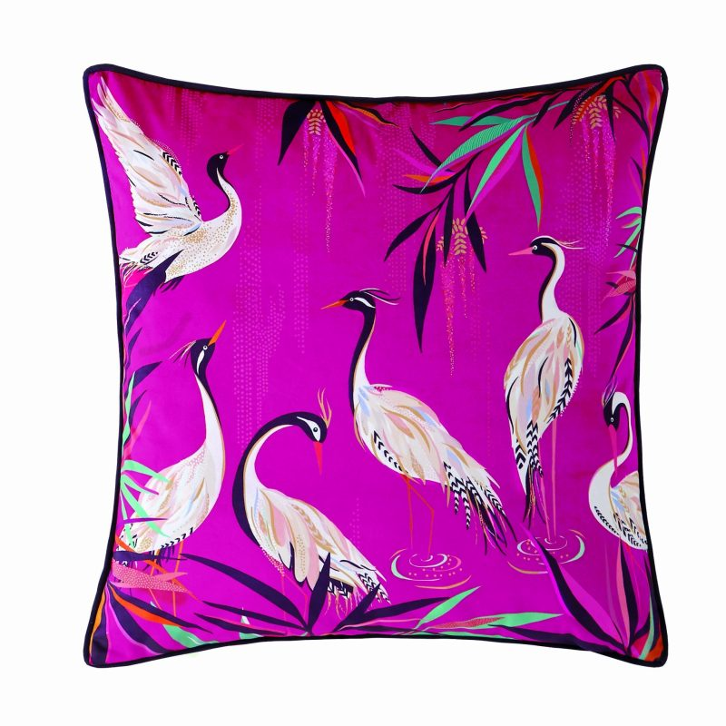 Heron Pink Cushion 50x50 1