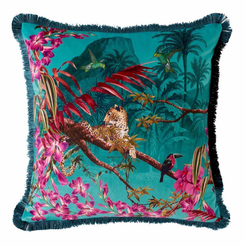 Hibiscus Jade Cushion 45x45